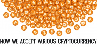 We accept various Cryptocurrencies