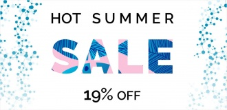 Hot Summer Sale 2019 - 19% OFF
