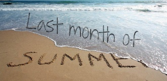 Last Month of Summer 2019 - 15% OFF